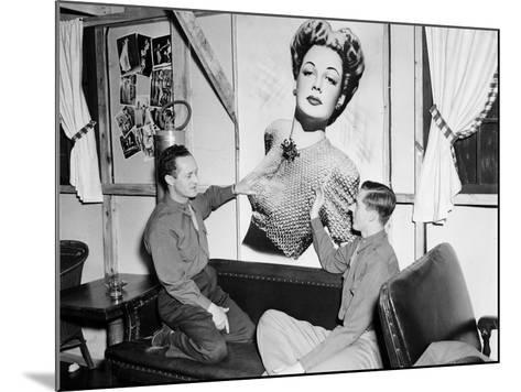 Officers Admiring an Unknown Movie Star- HRPE-Mounted Photographic Print