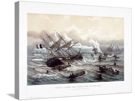 Peche a La Morue Sur Le Grand Banc De Terre-Neuve-Louis Le Breton-Stretched Canvas Print