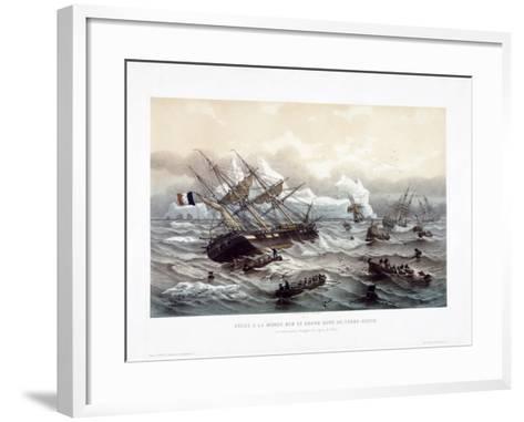 Peche a La Morue Sur Le Grand Banc De Terre-Neuve-Louis Le Breton-Framed Art Print