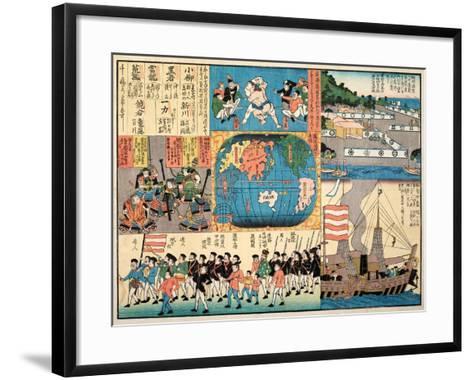 Picture of the American Passenger Ship--Framed Art Print