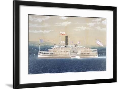 American Steamboat Kaaterskill-James Bard-Framed Art Print
