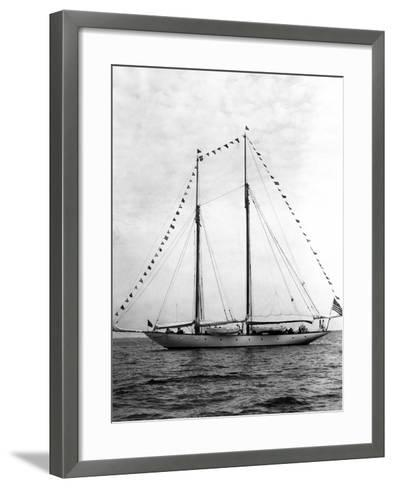 Schooner Yacht, Mariette-Edwin Levick-Framed Art Print