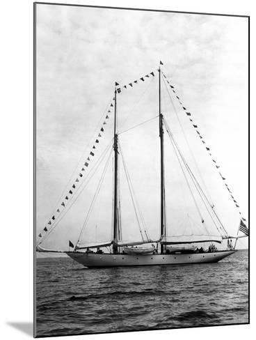 Schooner Yacht, Mariette-Edwin Levick-Mounted Photographic Print