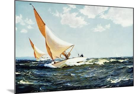 Neck and Neck 1935-Montague Dawson-Mounted Giclee Print