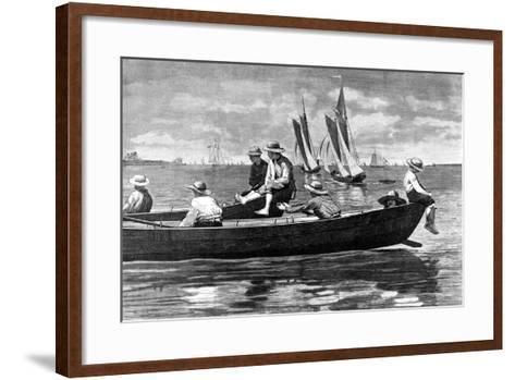 Gloucester Harbor-Winslow Homer-Framed Art Print