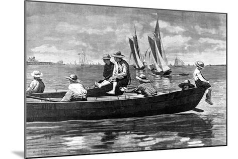 Gloucester Harbor-Winslow Homer-Mounted Giclee Print