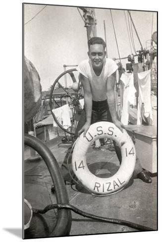 Sailor on the Deck of the Uss Rizal--Mounted Photographic Print
