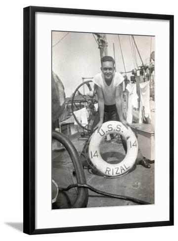 Sailor on the Deck of the Uss Rizal--Framed Art Print