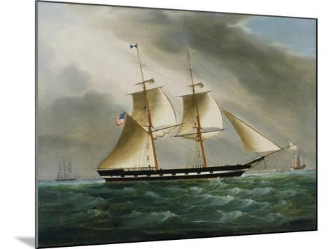 Unidentified American Brig in Chinese Waters--Mounted Giclee Print