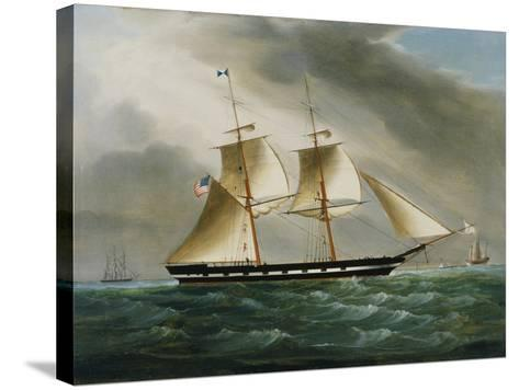 Unidentified American Brig in Chinese Waters--Stretched Canvas Print