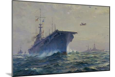 Uss Lexington-Frank Vining Smith-Mounted Giclee Print