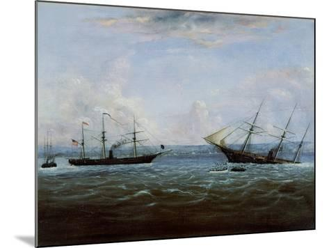 Uss Kearsarge and Css Alabama Off Cherbourg, France-Thomas Palmer Moses-Mounted Giclee Print