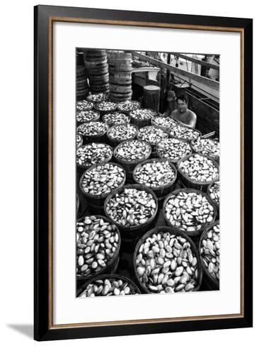 Baskets Filled with Clams 1961-A. Aubrey Bodine-Framed Art Print