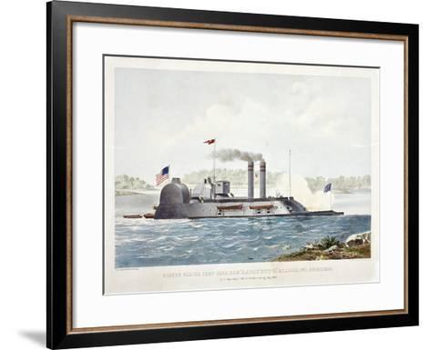 U.S. Ironclad Ram Lafayette-John Henry-Framed Art Print