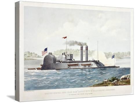 U.S. Ironclad Ram Lafayette-John Henry-Stretched Canvas Print