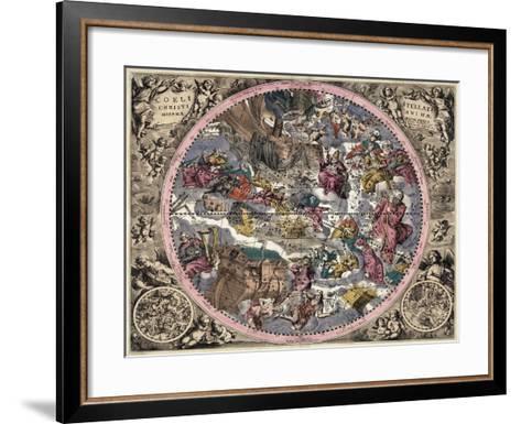 Coeli Stellati Christiani Hemisphaerium Prius 1708- Valck & Schenk-Framed Art Print