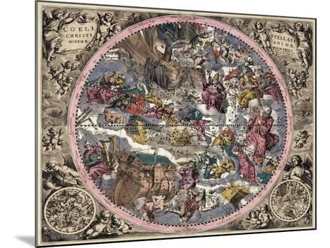 Coeli Stellati Christiani Hemisphaerium Prius 1708- Valck & Schenk-Mounted Giclee Print