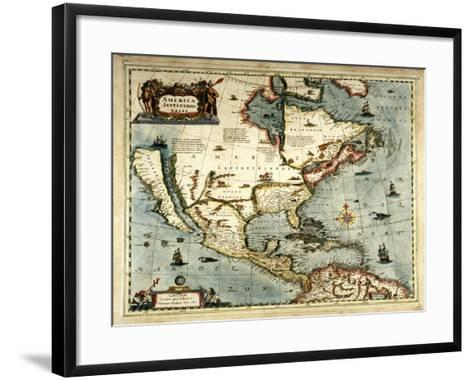 America Septentrionalis-Jan Jansson-Framed Art Print