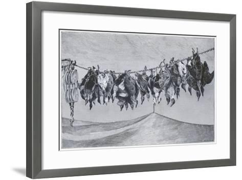 Game Shot Hanging from the Line--Framed Art Print