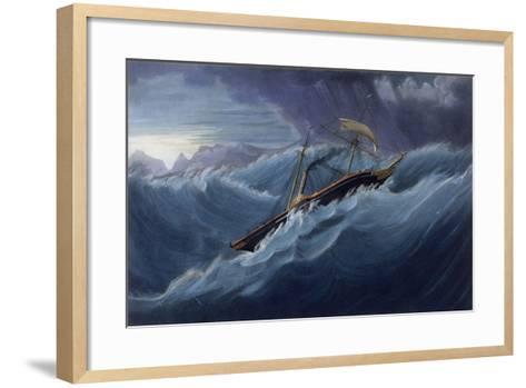 East India Company Iron War Steamer, the Ship Nemesis-W.J. Leathem-Framed Art Print