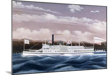 Side-Wheele Steamer Seawanhaka-James Bard-Mounted Giclee Print