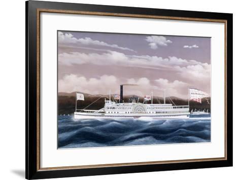 Side-Wheele Steamer Seawanhaka-James Bard-Framed Art Print