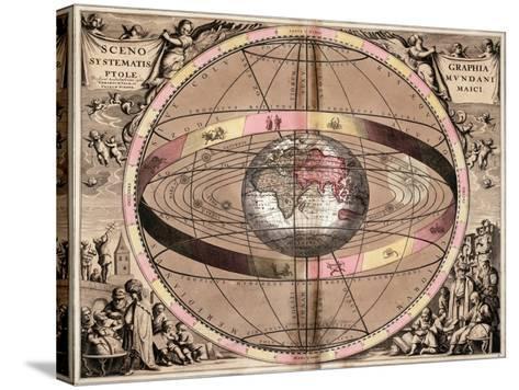 Armillary Sphere, 1710-Gerard Valck-Stretched Canvas Print