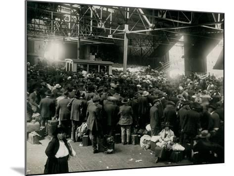 Steamer Passengers Waiting in Dock Building--Mounted Photographic Print