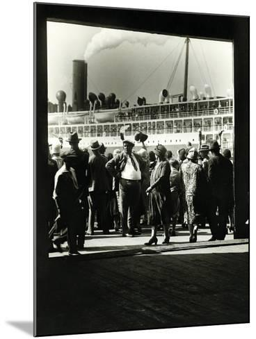 Crowd at a Steamship Departure-Edwin Levick-Mounted Photographic Print