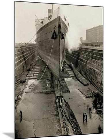 Majestic in Dry Dock-Edwin Levick-Mounted Photographic Print