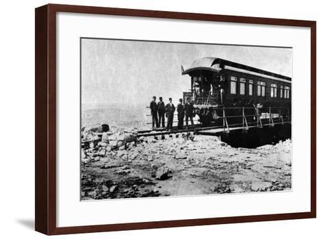 Private Car of Collis P. Huntington in Mexico--Framed Art Print