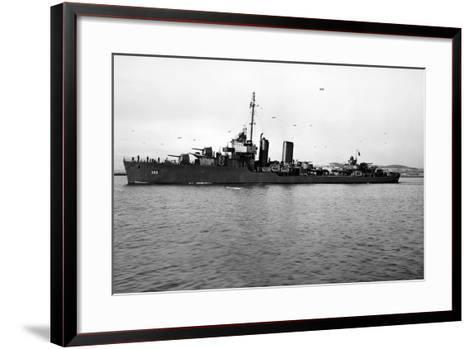 USS Worden (DD-352)--Framed Art Print
