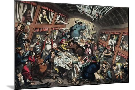 Ostend Packet in a Squall: a View of Passengers-George Cruikshank-Mounted Giclee Print