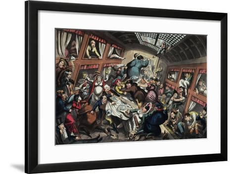 Ostend Packet in a Squall: a View of Passengers-George Cruikshank-Framed Art Print
