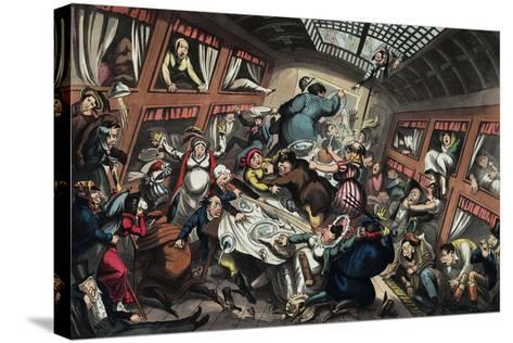 Ostend Packet in a Squall: a View of Passengers-George Cruikshank-Stretched Canvas Print
