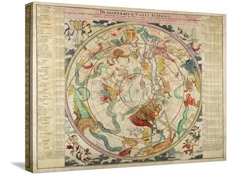Hemisphaerum Coeli Australe in Quo Loc a Stellarum 1720- Doppelmayer & Homann-Stretched Canvas Print