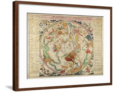 Hemisphaerum Coeli Australe in Quo Loc a Stellarum 1720- Doppelmayer & Homann-Framed Art Print