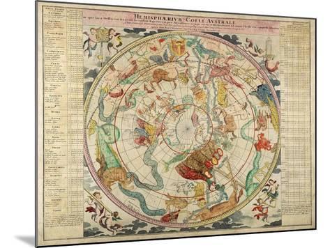 Hemisphaerum Coeli Australe in Quo Loc a Stellarum 1720- Doppelmayer & Homann-Mounted Giclee Print