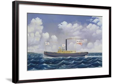 American Steam Tug Martha-James Bard-Framed Art Print
