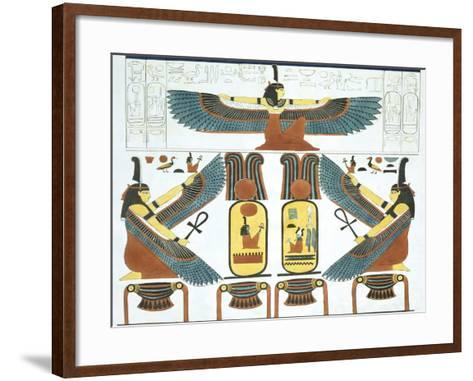 Tableau Representing the Two Niches to Include the Names of the Hero in the Tomb-Giovanni Battista Belzoni-Framed Art Print