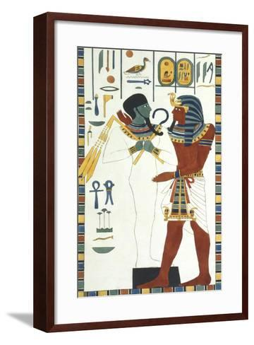 Tomb of Psammuthis: Osiris and Psammuthis-Giovanni Battista Belzoni-Framed Art Print