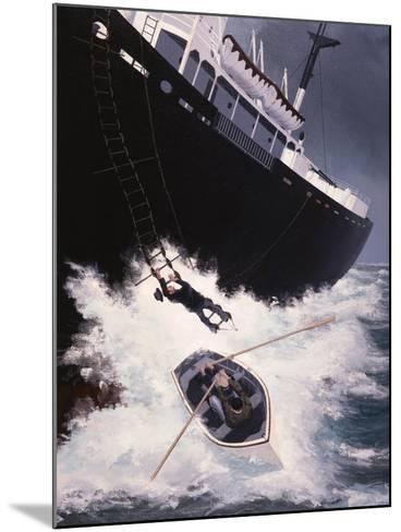 Boarding a Liberty Ship, 1947-Brian Hope-Mounted Giclee Print