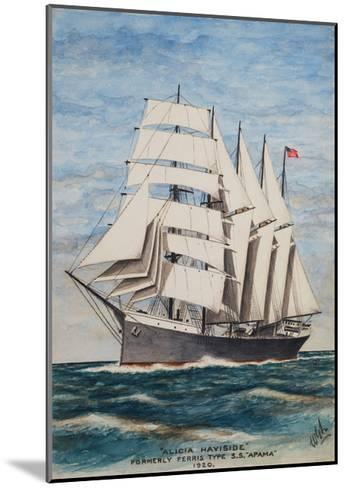America Barkentine Alicia Haviside-William Gardham Larmour-Mounted Giclee Print