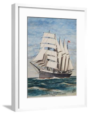 America Barkentine Alicia Haviside-William Gardham Larmour-Framed Art Print