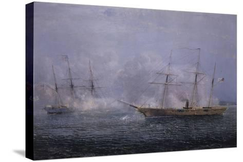 Battle Between the Uss Kearsarge and Css Alabama-Xanthus Robert Smith-Stretched Canvas Print