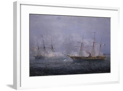 Battle Between the Uss Kearsarge and Css Alabama-Xanthus Robert Smith-Framed Art Print