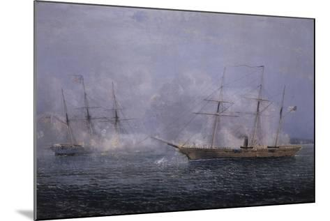 Battle Between the Uss Kearsarge and Css Alabama-Xanthus Robert Smith-Mounted Giclee Print