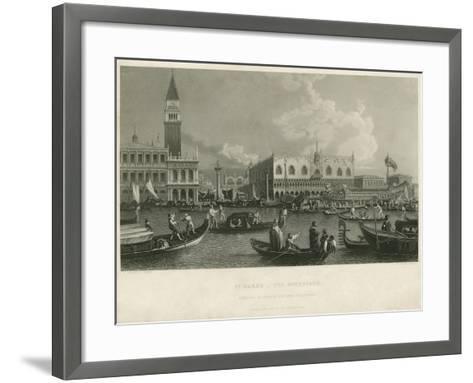 St. Mark's - the Bucentaur-A. Canaletti-Framed Art Print