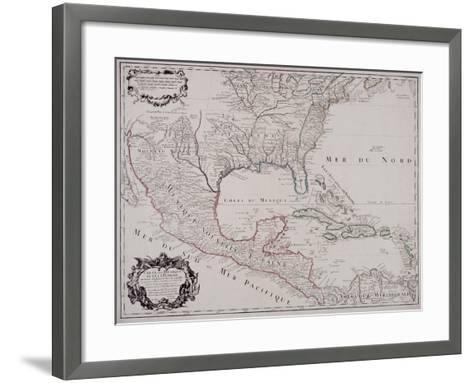 Map of North and Central America, 1703--Framed Art Print