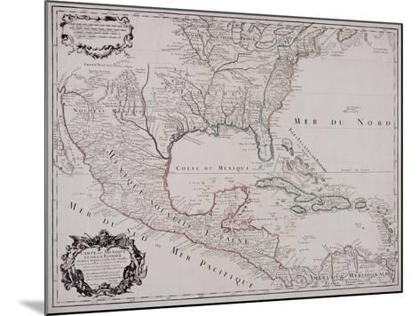 Map of North and Central America, 1703--Mounted Giclee Print